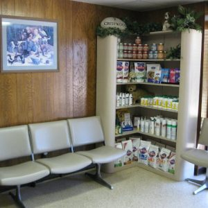 The clinic lobby and waiting area